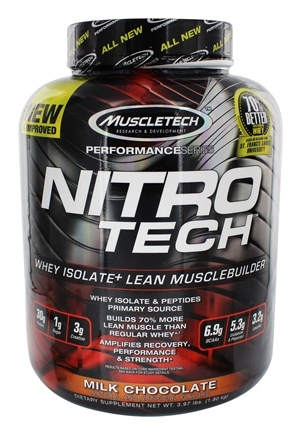 Muscletech Products - Nitro Tech Performance Series Whey Isolate Chocolate - 4 lbs.