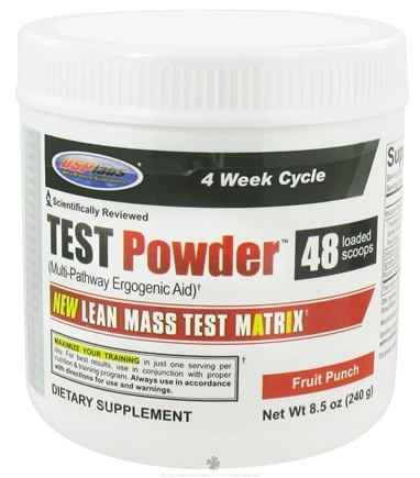 DROPPED: USP Labs - Test Powder Lean Mass Test Matrix Fruit Punch - 240g - 8.5 oz.