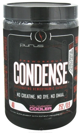 DROPPED: Purus Labs - Condense Pre Workout Oxygenating Hemodynamic Catalyst 8.9 oz. MelonBerry Cooler - 252 Grams CLEARANCE PRICED