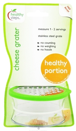 DROPPED: Healthy Steps - Cheese Grater Healthy Portion Serving - CLEARANCE PRICED