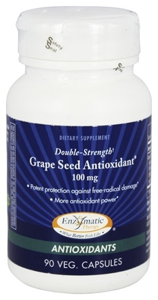 DROPPED: Enzymatic Therapy - Grape Seed Antioxidant Double Strength 100 mg. - 90 Vegetarian Capsules