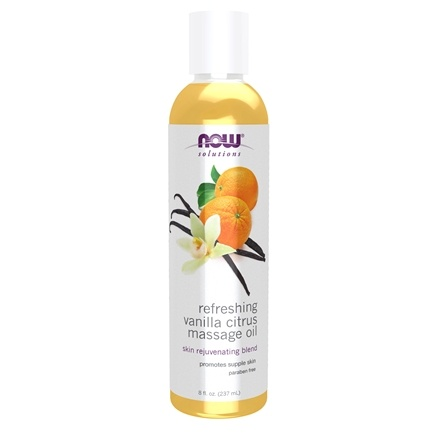 NOW Foods - Refreshing Vanilla Citrus Massage Oil - 8 oz.