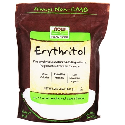 NOW Foods - Erythritol 100% Pure Natural Sweetener - 2.5 lbs.
