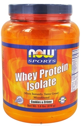 DROPPED: NOW Foods - Whey Protein Isolate Cookies & Creme - 1.8 lbs. CLEARANCE PRICED