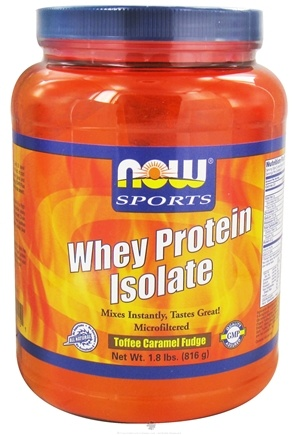 DROPPED: NOW Foods - Whey Protein Isolate Toffee Caramel Fudge - 1.8 lbs.