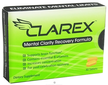 DROPPED: Clarex - Mental Clarity Recovery Formula - 30 Tablets