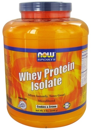 DROPPED: NOW Foods - Whey Protein Isolate Cookies & Creme - 5 lbs. CLEARANCE PRICED