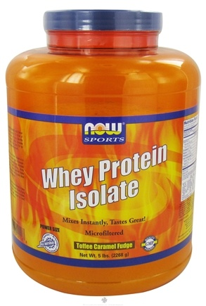 DROPPED: NOW Foods - Whey Protein Isolate Toffee Caramel Fudge - 5 lbs. CLEARANCE PRICED