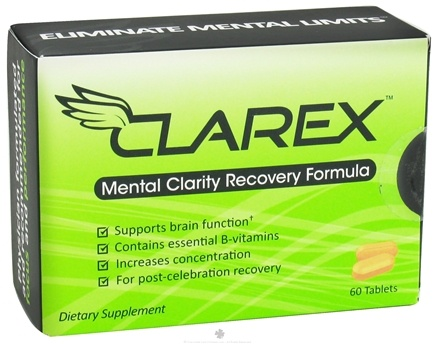DROPPED: Clarex - Mental Clarity Recovery Formula - 60 Tablets