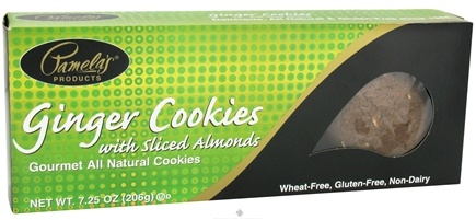 DROPPED: Pamela's Products - Gourmet All Natural Cookies Gluten Free Ginger with Sliced Almonds - 7.25 oz.
