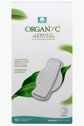 Organyc - Organic Cotton Menstrual Pads with Wings Super Flow and Maternity - 10 Pad(s)