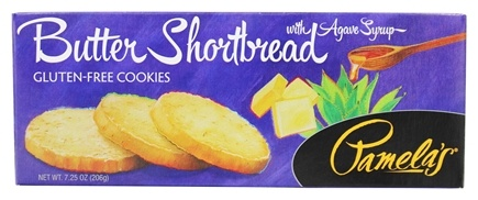 Pamela's Products - Gourmet All Natural Cookies Gluten Free Butter Shortbread - 7.25 oz.