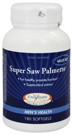 Enzymatic Therapy - Super Saw Palmetto - 180 Softgels