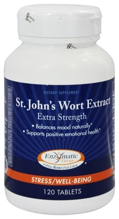 Enzymatic Therapy - St. John's Wort Extract Extra Strength - 120 Tablets