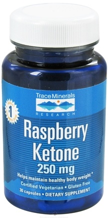 DROPPED: Trace Minerals Research - Raspberry Ketones 250 mg. - 30 Capsules