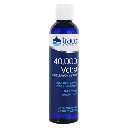 Trace Minerals Research - 40,000 Volts! Electrolyte Concentrate - 8 oz.