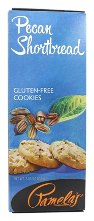 Pamela's Products - Gourmet All Natural Cookies Gluten Free Pecan Shortbread - 7.25 oz.
