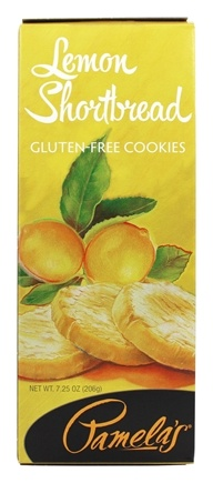 Pamela's Products - Gourmet All Natural Cookies Gluten Free Lemon Shortbread - 7.25 oz.