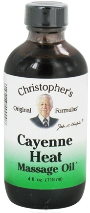 DROPPED: Dr. Christopher's Original Formulas - Cayenne Heat Massage Oil - 4 oz.