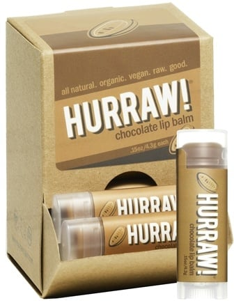 DROPPED: Hurraw Balm LLC - Lip Balm Chocolate - 0.15 oz. CLEARANCE PRICED