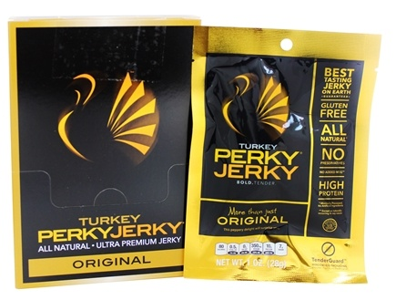 Perky Jerky - Ultra Premium Jerky Turkey Original - 1 oz.