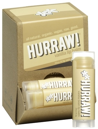 DROPPED: Hurraw Balm LLC - Lip Balm Vanilla Bean - 0.15 oz. CLEARANCE PRICED