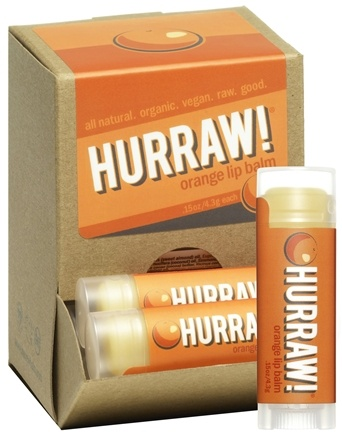 DROPPED: Hurraw Balm LLC - Lip Balm Orange - 0.15 oz. CLEARANCE PRICED