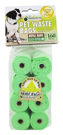 Green 'N' Pack Eco Friendly Bags - Dog Poo Bags 60 Day Pack - 160 Bags