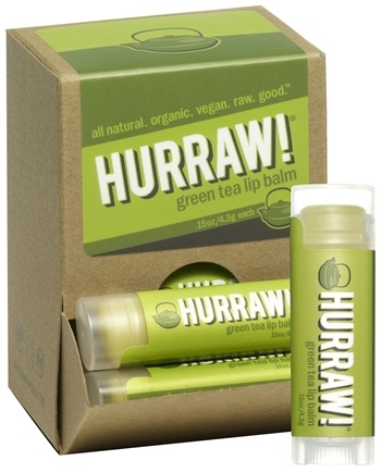 DROPPED: Hurraw Balm LLC - Lip Balm Green Tea - 0.15 oz.