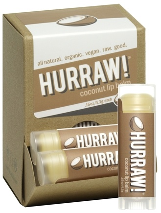 DROPPED: Hurraw Balm LLC - Lip Balm Coconut - 0.15 oz. CLEARANCE PRICED