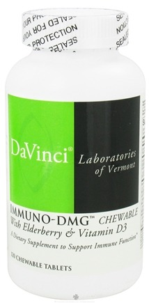 DROPPED: DaVinci Laboratories - Immuno-DMG with Elderberry and Vitamin D3 - 120 Chewable Tablets CLEARANCE PRICED