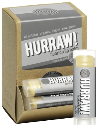 DROPPED: Hurraw Balm LLC - Lip Balm Licorice - 0.15 oz. CLEARANCE PRICED