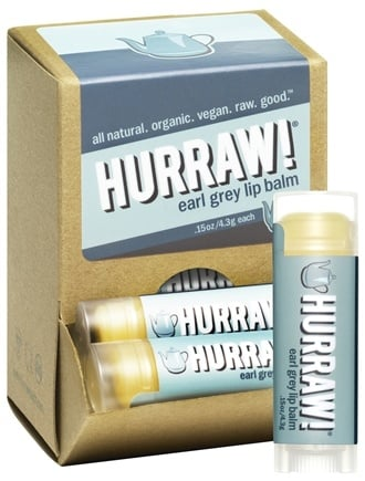 DROPPED: Hurraw Balm LLC - Lip Balm Earl Grey - 0.15 oz. CLEARANCE PRICED
