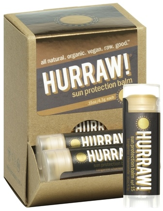 DROPPED: Hurraw Balm LLC - Sun Protection Lip Balm Tangerine Chamomile 15 SPF - 0.15 oz. CLEARANCE PRICED