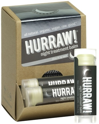DROPPED: Hurraw Balm LLC - Night Treatment Lip Balm Blue Chamomile Vanilla - 0.15 oz. CLEARANCE PRICED