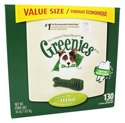 Greenies - Dental Chews For Dogs Teenie (For Dogs 5-15 lbs.) - 130 Chew(s)