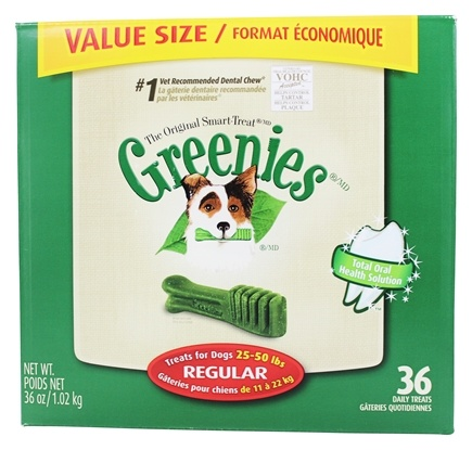 Greenies - Dental Chews For Dogs Regular (For Dogs 25-50 lbs.) - 36 Chew(s)