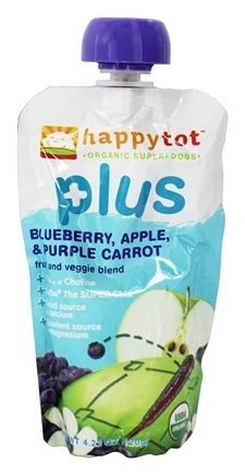 DROPPED: HappyBaby - Happy Tot Plus Blueberry, Apple, Purple Carrot - 4.22 oz.