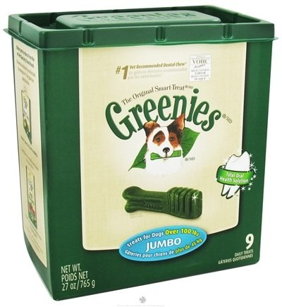DROPPED: Greenies - Dental Chews For Dogs Jumbo (For Dogs Over 100 lbs.) - 9 Chew(s) CLEARANCE PRICED