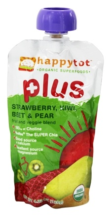 HappyFamily - Organic HappyTot Plus Strawberry, Kiwi, Beet & Pear - 4.22 oz.