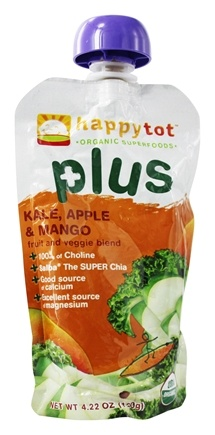 HappyBaby - Happy Tot Plus Kale, Apple, & Mango - 4.22 oz.