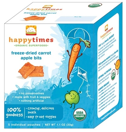 DROPPED: HappyFamily - Happy Times Organic Crazy Crunchies - 5 Pouches