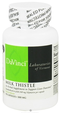 DROPPED: DaVinci Laboratories - Milk Thistle 300 mg. - 90 Vegetarian Capsules CLEARANCE PRICED