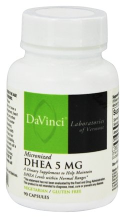 DaVinci Laboratories - Micronized DHEA 5 mg. - 90 Vegetarian Capsules