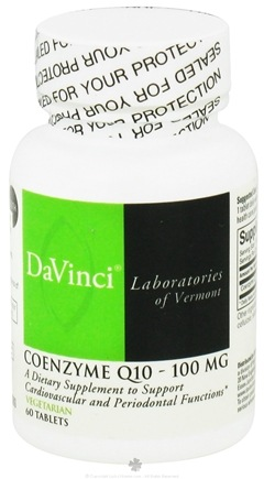 DROPPED: DaVinci Laboratories - CoEnzyme Q10 100 mg. - 60 Vegetarian Tablets CLEARANCE PRICED