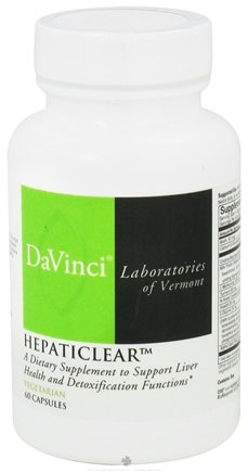 DROPPED: DaVinci Laboratories - Hepaticlear - 60 Vegetarian Capsules CLEARANCE PRICED