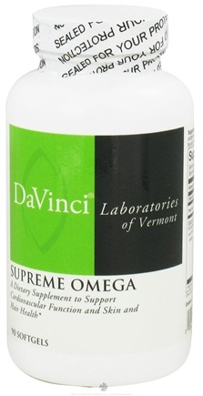 DROPPED: DaVinci Laboratories - Supreme Omega - 90 Softgels CLEARANCE PRICED