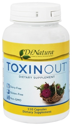 DrNatura - Toxinout Heavy Metal/Toxin Removal Support - 110 Vegetarian Capsules