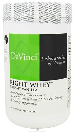 DROPPED: DaVinci Laboratories - Right Whey New Zealand Whey Protein Creamy Vanilla Flavor - 924 Grams CLEARANCE PRICED