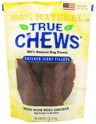 DROPPED: True Chews - Chicken Jerky Fillets Dog Treats - 4 oz. CLEARANCE PRICED
